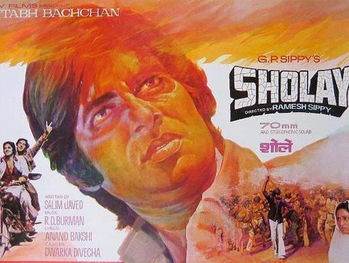 <h3>शोले</h3><br/>भारतीय सिनेजगतातील मौलाचा दगड ठरलेला सिनेमा म्हणजे 'शोले'. रमेश सिप्पी यांचं महाकाव्य ठरलेल्या शोले सिनेमात मनोरंजनाचा पूर्ण मसाला होता. यात पुन्हा अमिताभ जया एकत्र होते. पण लोकांना आवडली ती अमिताभची धर्मेंद्रसोबतची 'जय-वीरू'ची जोडी. 'ब्रिटीश फिल्म इन्स्टिट्यूट'च्या मतदानातही 'टॉप १० भारतीय सिनेमां'मध्ये शोलेचा नंबर वरचा लागतो.