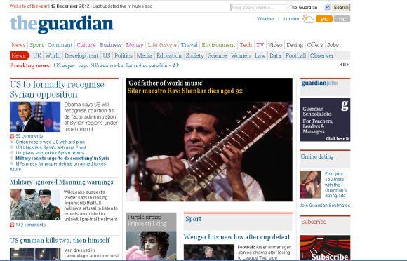 <h3>द गार्डियन, ब्रिटन</h3><br/>रवि शंकर यांना बिट्लमधील जॉर्ज हरिसन गॉडफादर ऑफ वर्ल्ड म्युझिक म्हणत होते. रवि शंकर यांचे संगीत पूर्व आणि पश्चिमेच्या संगीतातील दरी दूर करणारे होते.