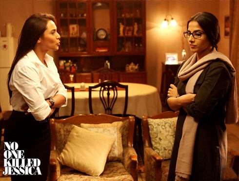 <h3>नो वन किल्ड जेसिका (२०११)</h3><br/><br>दिल्लीत घडलेल्या एका खऱ्याखुऱ्या कथेवर आधारित या सिनेमानं अनेक विषयांना हात घातला. जेसिका लाल हत्या प्रकरणावर आधारित हा सिनेमा दिग्दर्शक राजकुमार गुप्ता यांच्या नजरेतून प्रेक्षकांसमोर आला. दोन महिलांवर केंद्रीत 'नो वन किल्ड जेसिका' या सिनेमात महत्त्वाच्या भूमिका राणी मुखर्जी आणि विद्या बालन या दोघींनी निभावल्या. राणी एका धडाडी पत्रकाराच्या भूमिकेत तर विद्या जेसिकाच्या कणखर बहिणीच्या रुपात प्रेक्षकांना भावल्या. यावर्षीचा उत्कृष्ट सह-कलाकाराचा फिल्मफेअर पुरस्कार राणीनं पटकावला.   <br>