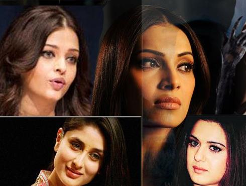 <h3>ऐश्वर्या-प्रीती-करिना-बिपाशा</h3><br/><br>हिंदी चित्रपटांतून छोट छोट्या भूमिकांमधून सौंदर्यवान या अभिनेत्रींनी आपल्या अभिनयातून खलनायिक रंगवण्याचा प्रयत्न केला आहे. यामध्ये विश्वसुंदरी ऐश्वर्या राय-बच्चन हिचा 'खाकी', प्रीती झिंटाचा 'अरमान', करिना कपूरचा 'फिदा', बिपाशा बासूचा 'जिस्म'  आणि 'राज ३', कैटरीना कैफचा 'रेस' आदी चित्रपटाचा विशेषत्वाने उल्लेख करावा लागतो.<br><br>* <a href=