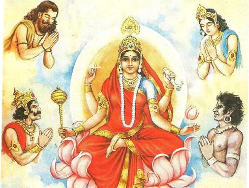 <h3>सिद्धिदात्री</h3><br/><br>नवरात्रीच्या नवव्या दिवशी सिद्धिदात्री देवीची उपासना होते. यारूपात  भक्तांच्या इच्छा, गरजा पूर्ण करण्यासाठी प्रसिध्द आहे.