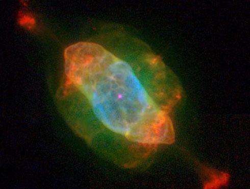 <h3>शनी ग्रह नक्षत्रसमुह</h3><br/><br>शनी ग्रह नक्षत्र हे फक्त त्याच्या रिंगच्या आकारामुळे शनी ग्रहासारखे असे दिसते. हे नक्षत्र लहान लंबवर्तूळकाराचे आहे. हे सुर्यमाला धुम्रमय नक्षत्रसमुह आहे.<br><br>हे दृष्य पाहाण्यासाठी योग्य वेळ ८ ते ५ ही आहे.<br>