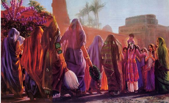 <h3>श्रीकृष्णाचे विवाह...</h3><br/>स्त्रियांच्या मानाचं रक्षण करण्यासाठी श्रीकृष्णानं १६ हजार महिलांसोबत विवाह केला.