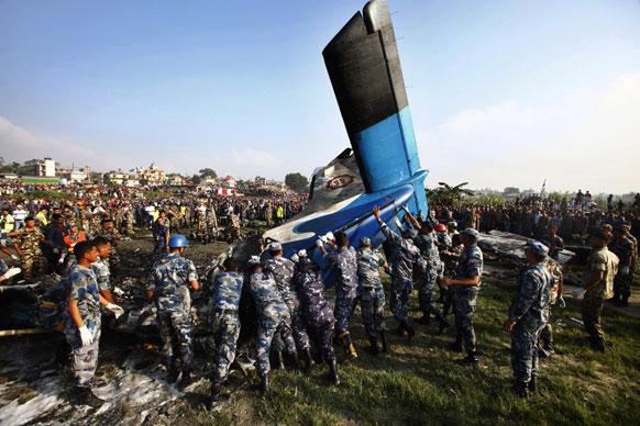 काठमांडू येथे कोसळलेले विमान