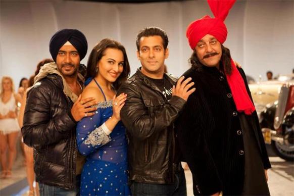 सन ऑफ सरदारमधील अजय देवगण, सोनाक्षी सिन्हा, सलमान खान आणि संजय दत्त...