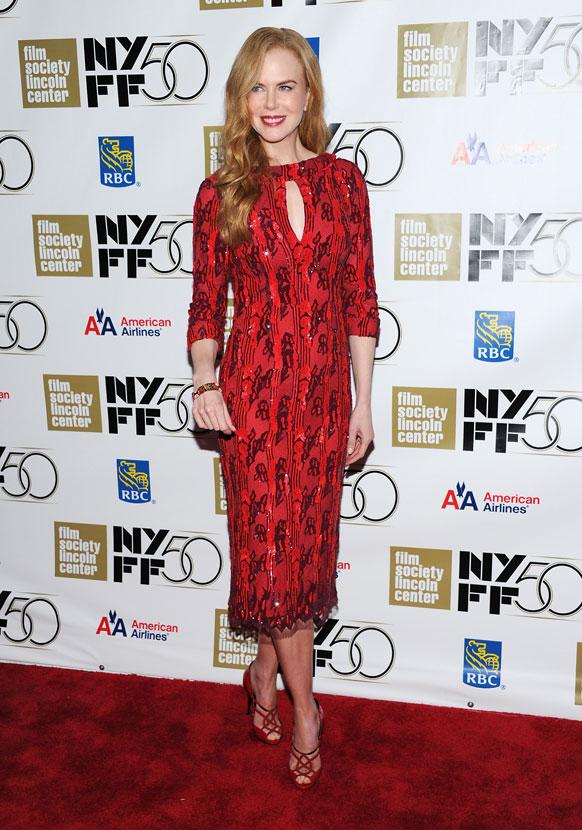 अभिनेत्री निकोल किडमन न्यू यॉर्क फिल्म फेस्टीव्हलमध्ये