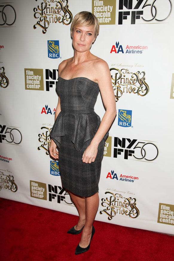 न्यू यॉर्क फिल्म फेस्टिव्हलमध्ये अभिनेत्री रॉबिन राईट
