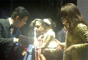बिग बींच्या वाढदिवसाच्या पार्टीत पहिल्यांदा आराध्या बच्चनची झलक दिसली. सौजन्य- ट्विटर