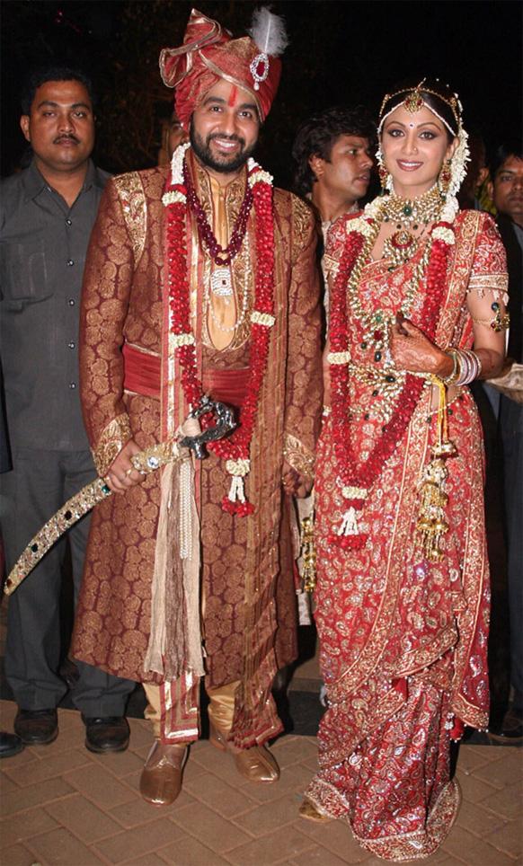 शिल्पा शेट्टी आणि राज कुंद्रा...