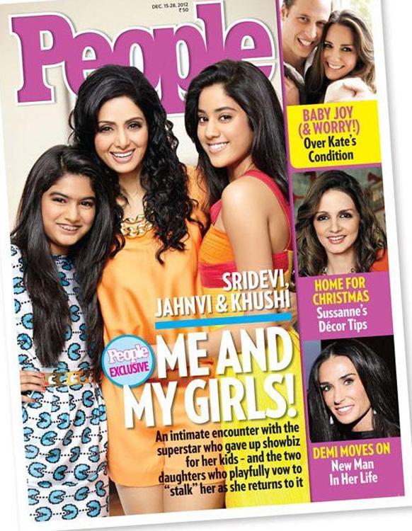 श्रीदेवी आणि तिच्या दोन्ही मुली... जान्हवी आणि खुशी...