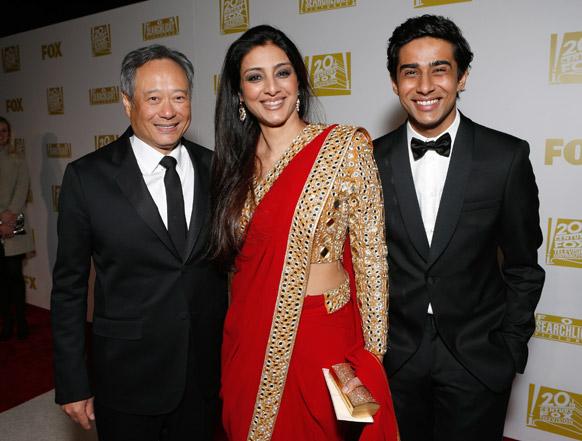 'गोल्डन ग्लोब अवॉर्ड'साठी उपस्थित दिग्दर्शक आँग ली, अभिनेत्री तब्बू आणि सुरज शर्मा (लाईफ ऑफ पाय)