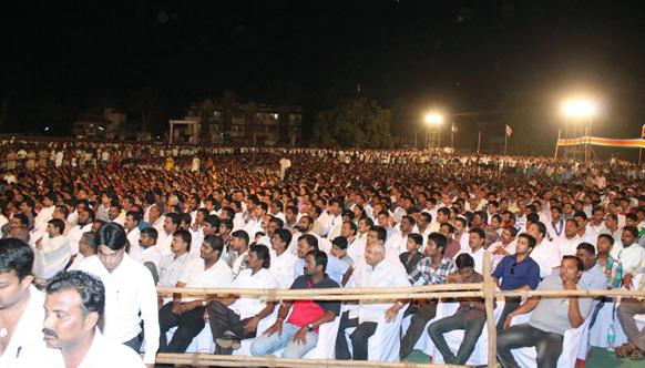 राज ठाकरेंच्या सभेसाठी झालेली हजारोंची गर्दी