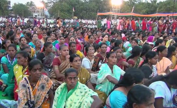 राज ठाकरेंच्या सभेसाठी महिलांची झालेली हजारोंची गर्दी