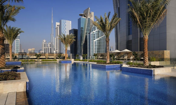 'जे डब्ल्यू मॅरिएट मार्क्युअस दुबई' ट्विन टॉवर आहे
