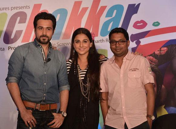 इम्रान हाश्मी, विद्या बालन आणि दिग्दर्शक राज कुमार गुप्ता... 'घनचक्कर'च्या प्रमोशन दरम्यान