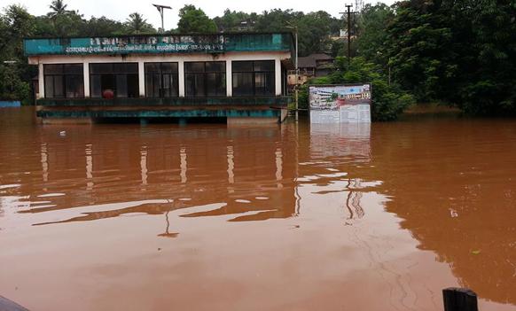 राजापुरमध्ये अर्जुना नदीचे पाणी नगरपरिषदेमध्ये शिरले