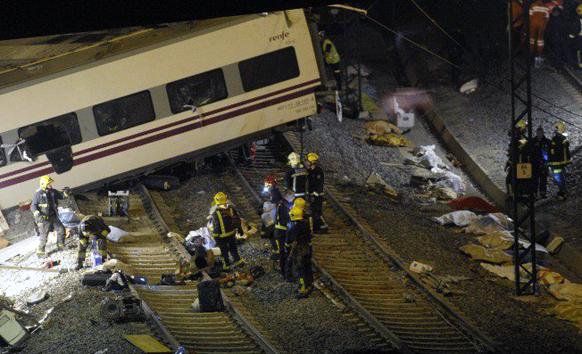 स्पेनमध्ये  सॅन्टीएगो दि कॉम्पोस्टेला येथे झालेला रेल्वे अपघात