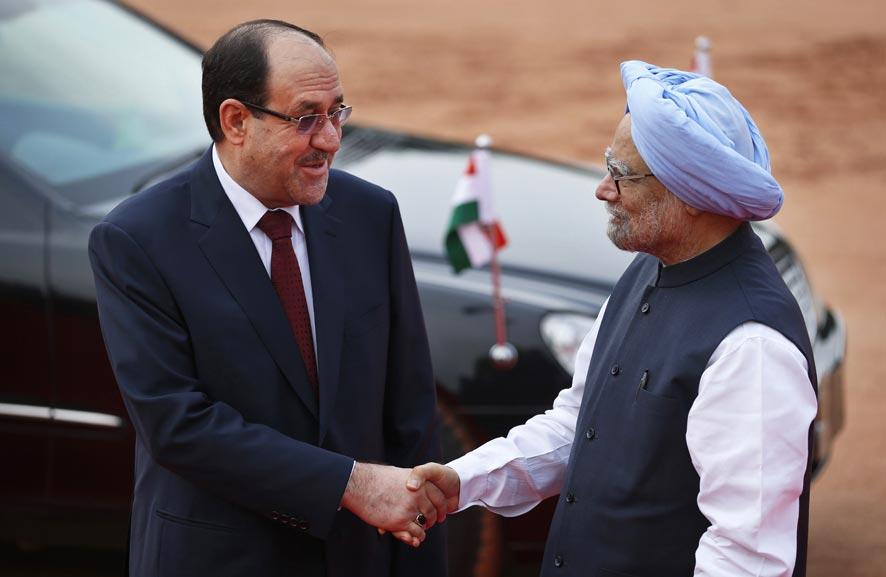 नवी दिल्लीमध्ये इराकचे पंतप्रधान नौरी-अल-मालिकी आणि भारताचे पंतप्रधान मनमोहन सिंग