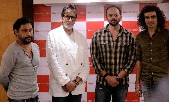 अमिताभ बच्चन यांचा आजच्या दिग्दर्शकांसोबत फोटो- सुजीत सरकार, रोहित शेट्टी आणि इम्तियाज अली