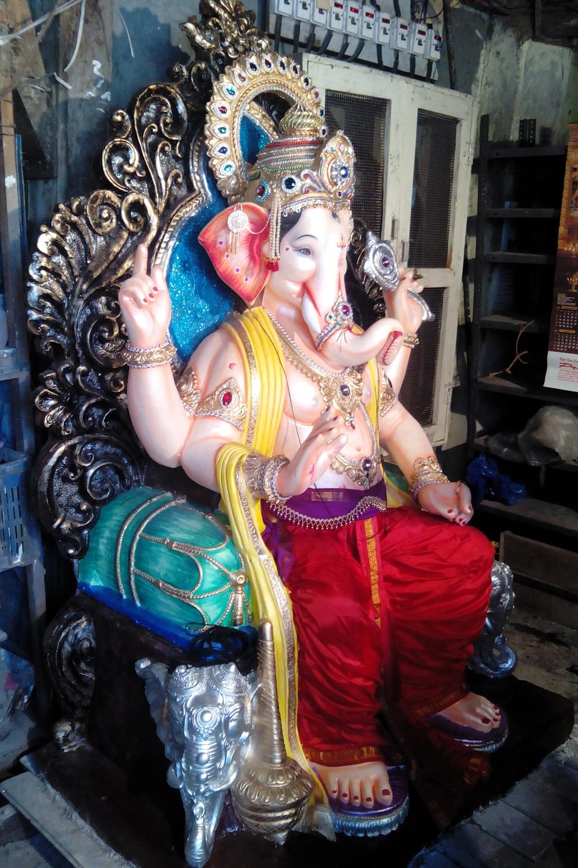 रामवाडीचा राजा, काळबादेवी- रविंद्र खोत आणि दिलीप सागवेकर यांनी साकारलेली मूर्ती