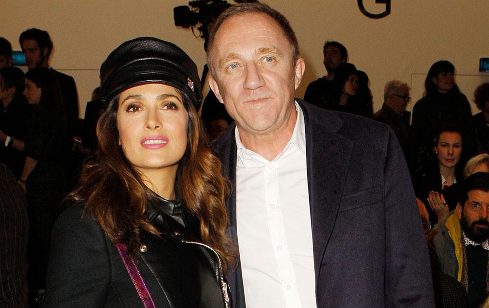 मैक्सिकन अभिनेत्री सलमा हायेक पती फ्रेंकोइस हेनरी पिनौल्ट यांच्यासोबत