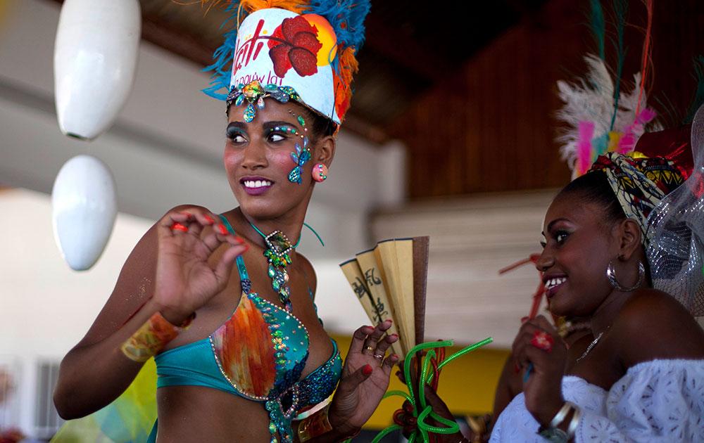 हैती येथील कार्निवाल समारोहात कार्निवल क्वीन फॅबीनी फ्रेंकोइस