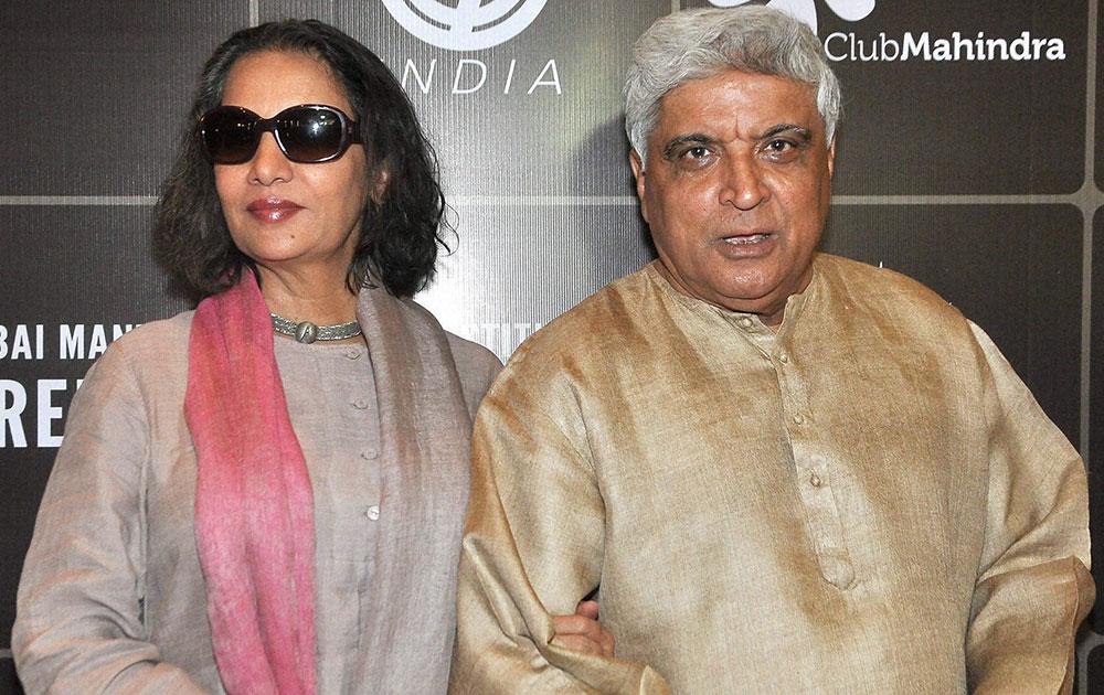 मुंबईत मुंबई मंत्रा सनडान्स इंस्टीट्यूटच्या एका लॅबचे उद्घाटन करण्यात आले यावेळी लेखक जावेद अख्तर आणि त्यांची पत्नी अभिनेत्री शबाना आझमी