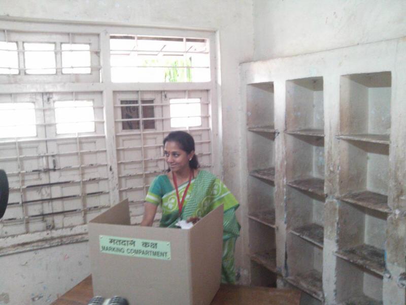 बारामतीच्या खासदार सुप्रिया सुळेंनी केलं मतदान