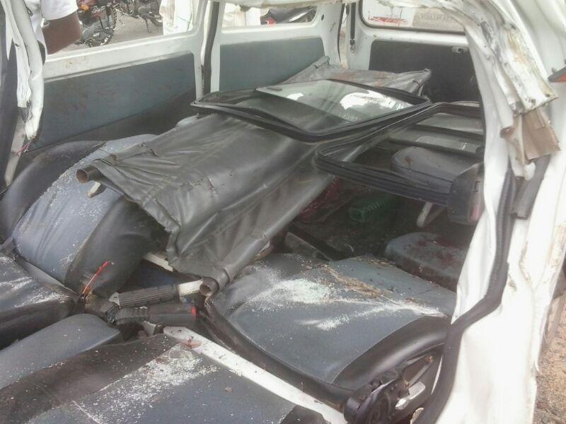 भीषण अपघातात तीन जण गंभीर जखमी झाले होते ...