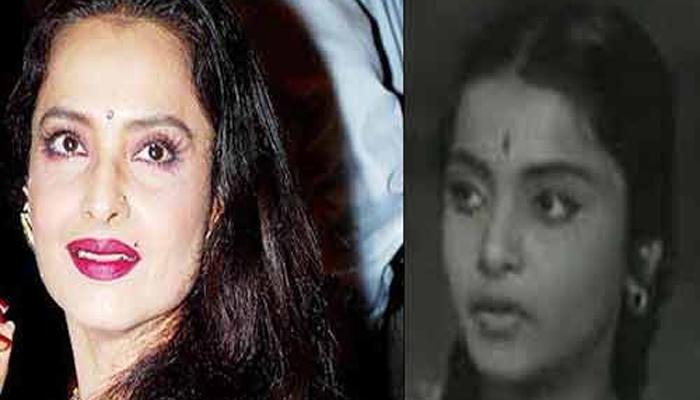 <p>८) रेखा (जन्म - 10 ऑक्टोबर, 1953)<br /> बालकलाकार - रंगूला रतनम (1966, तेलुगु फिल्म)<br /> अभिनेत्री - सावन भादो (1970), नमक हराम (1973), खून पसीना (1977), घर (1978), खूबसूरत (1980), सिलसिला (1981), उमराव जान (1981), खून भरी मांग (1988), खिलाड़ियों का खिलाड़ी (1996), लज्जा (2001), कोई मिल गया (2003), कृष (2006)</p>  <p>&nbsp;</p>