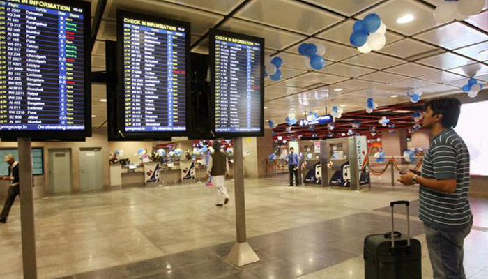 दिल्ली विमानतळावर  किरणोत्सरी पदार्थ