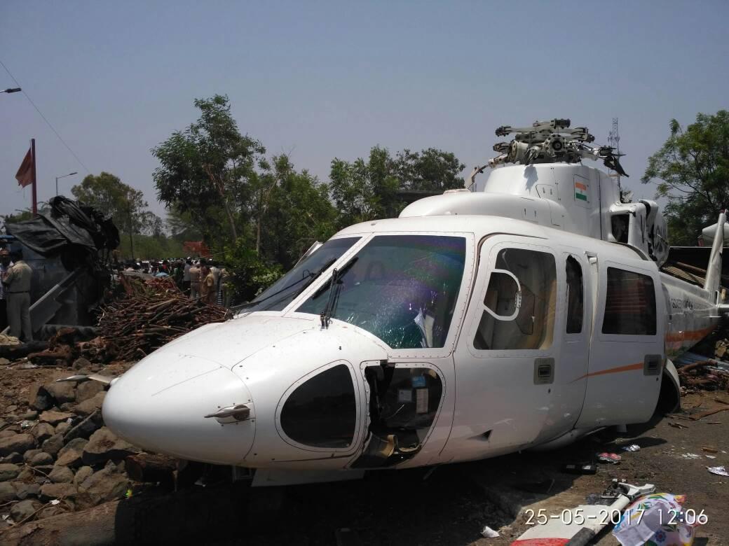 मुख्यमंत्री हेलिकॉप्टर अपघाताची चौकशी सुरु