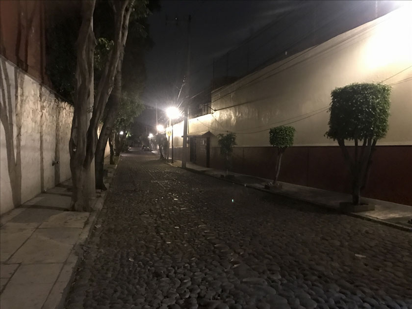 Street after an earthquake hit Mexico City