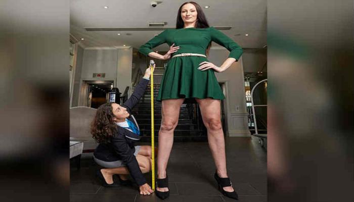 ही आहे जगातील सर्वात लांब पाय असलेली महिला...
