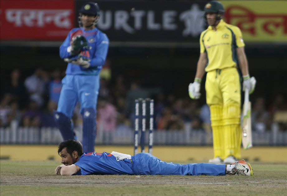 Yuzvendra Chahal of India during the first T20 match between India and Australia at JSCA International Stadium in Ranchi.