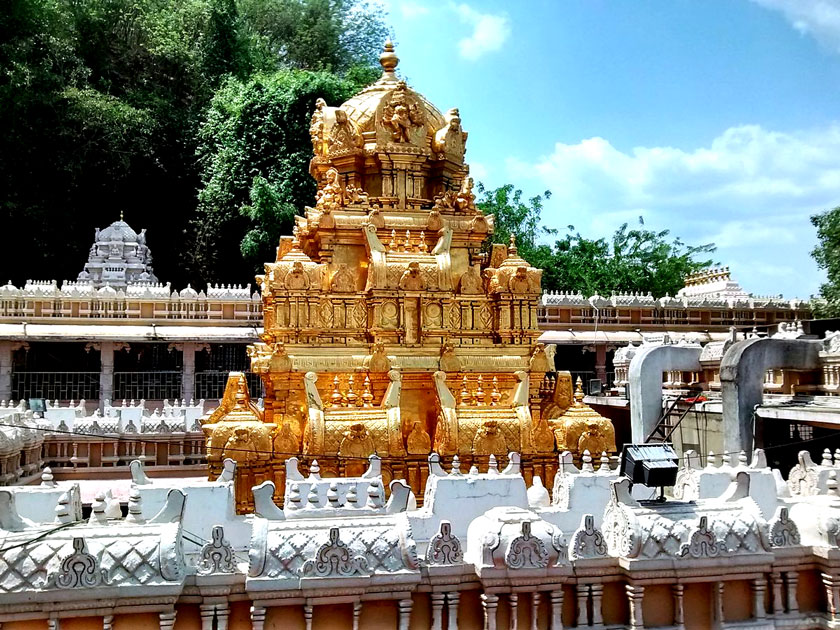 Golden gopuram of Tirumala Temple
