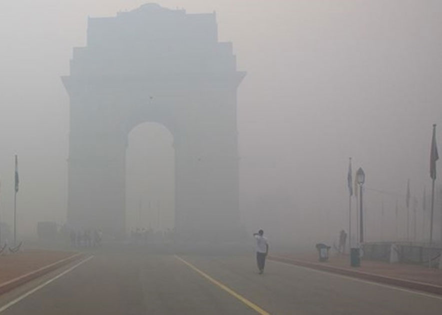Due to smog the visibility remained low.
