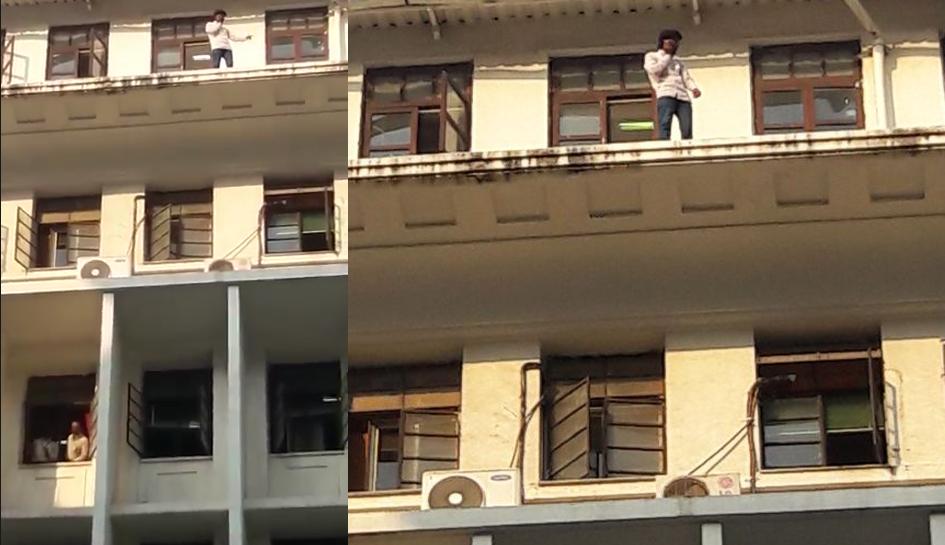 मंत्रालय इमारतीच्या सहाव्या मजल्यावर चढलेला तरुण ताब्यात