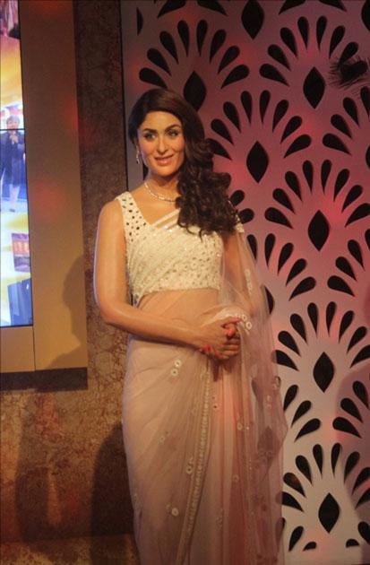 A wax statue of actress Kareena Kapoor at Madame Tussauds Wax Museum in New Delhi.