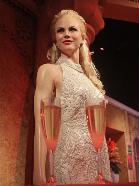 Wax statues of actress Kate Winslet at Madame Tussauds Wax Museum in New Delhi.