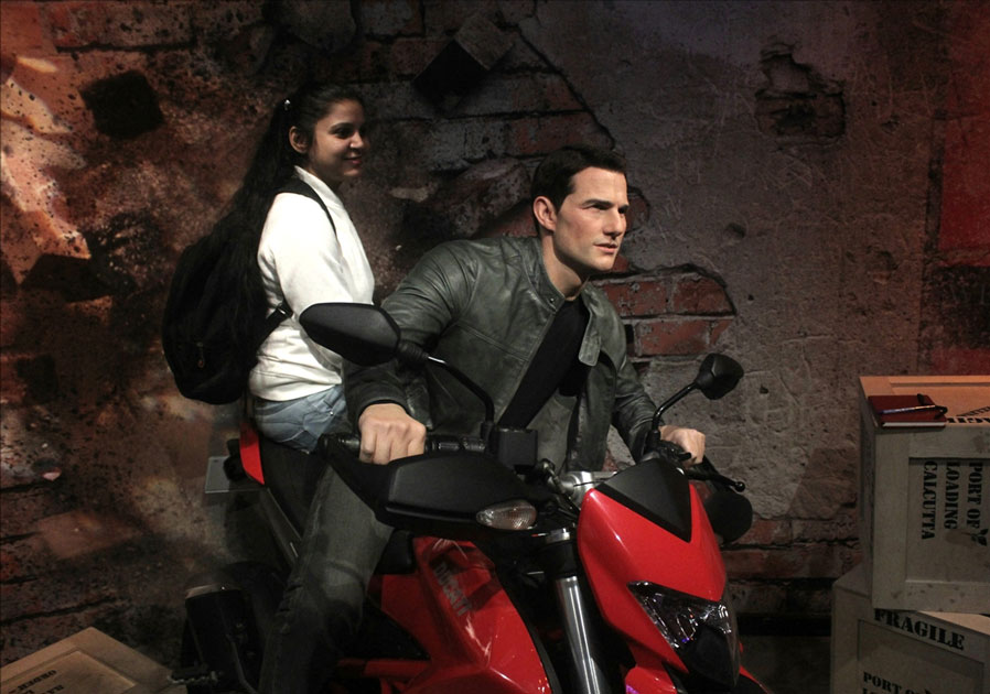 A wax statue of actor Tom Cruise at Madame Tussauds Wax Museum in New Delhi.