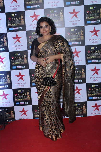 Actress Vidya Balan at the red carpet of