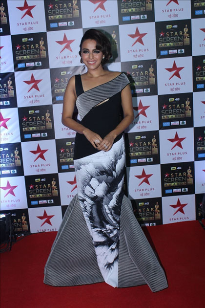 Actress Swara Bhaskar at the red carpet of