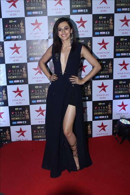 Actress Taapsee Pannu at the red carpet of