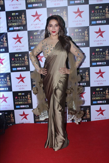 Actress Madhuri Dixit at the red carpet of