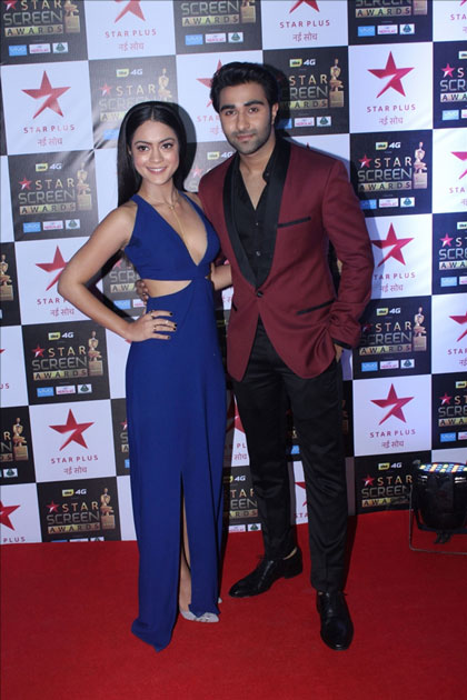 Actors Anya Singh and Aadar Jain at the red carpet of