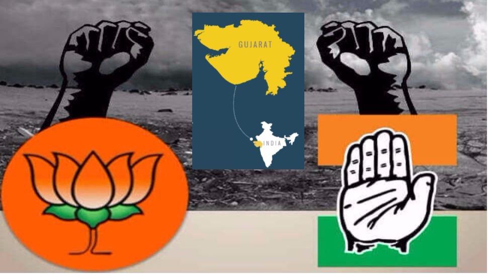 गुजरात विधानसभा निवडणूक : भाजपला फटका, कॉंग्रेसला जनतेचा हात, ओपिनियन पोल्सचा अंदाज