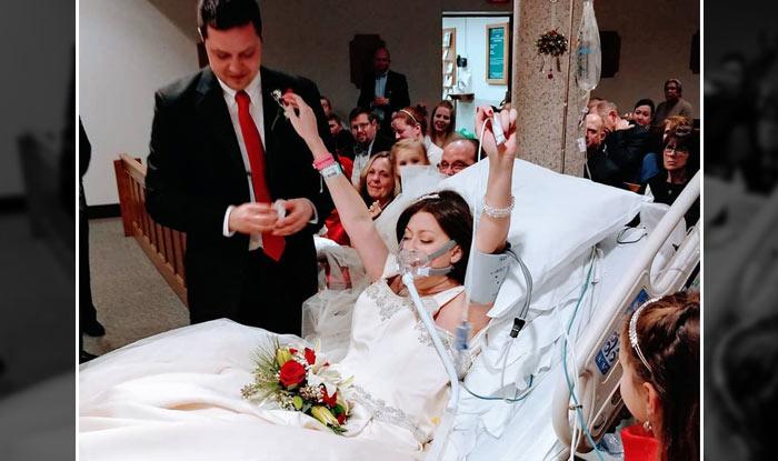कॅन्सरशी झगडणाऱ्या महिलेने मृत्यूच्या काही तासांपूर्वी केले लग्न
