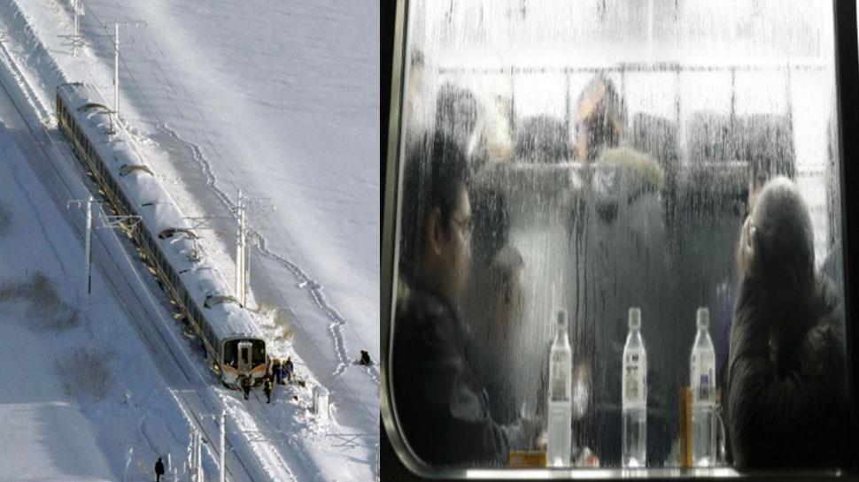 जपानमध्ये जोरदार हिमवृष्टीमुळे ट्रेनसेवा ठप्प, ट्रेनमध्ये रात्रभर अडकले ४३० प्रवासी