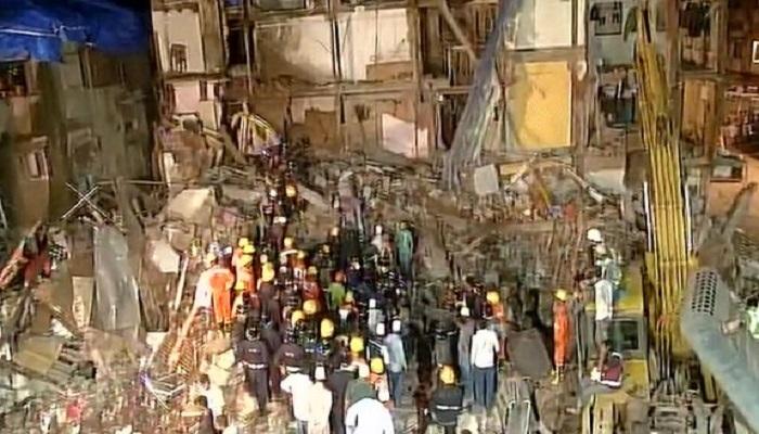 विद्याविहारमध्ये 3 मजली इमारत कोसळली